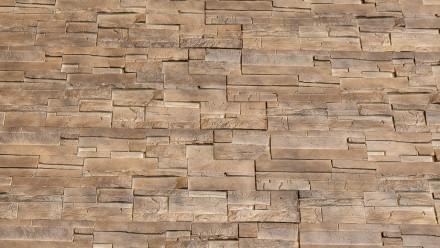 planeo Fassadenplatte Steinoptik - NoviStone Brownstone 1054 x 334 mm