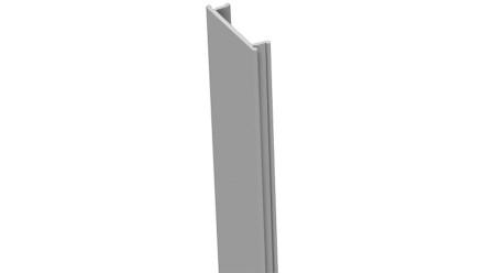 planeo Alumino - Pfostenabdeckleiste Silbergrau 190cm 7x7 und 9x9cm