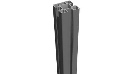 planeo Alumino - Alupfosten zum Aufdübeln Anthrazitgrau 190cm