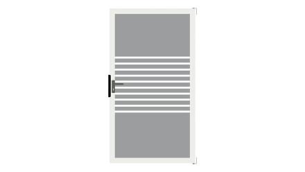 planeo Ambiente - Glas-Sichtschutz Tor DIN links Streifen mit Anthrazit-Alurahmen 100 x 180 cm