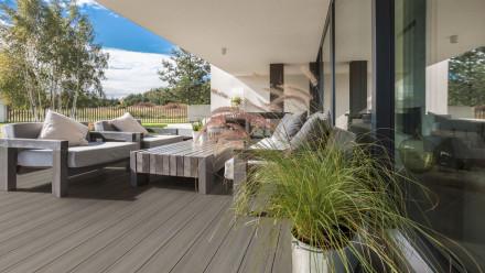 planeo CoEx-Line BPC-Massivdiele Steingrau/Graphite - Holzstruktur