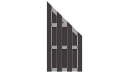 planeo Fertigzaun - Schräg Anthrazit 84,3 x 180/90 cm