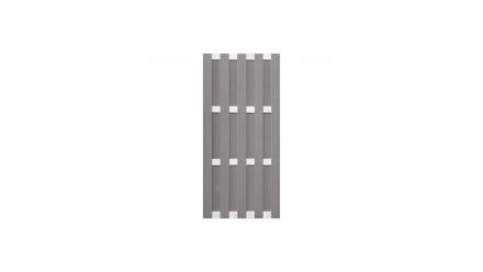 planeo Fertigzaun - Hochkant Hellgrau 84,3 x 180cm