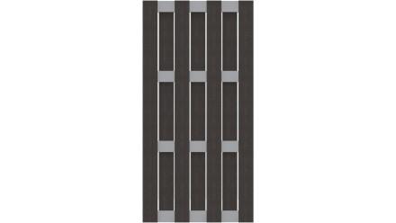 planeo Fertigzaun - Hochkant Anthrazit 84,3 x 180cm