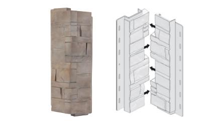 planeo Fassadenecken Schichtstein Limestone - 406 x 149 mm