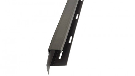 planeo Fassaden Universelles U-Profil 2-tlg. Gray Black Blend - 1850 x 50 x 50 mm
