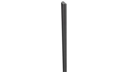 planeo Solid - Pfostenabdeckleiste Anthrazitgrau 300cm