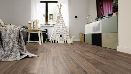 Wineo Bioboden 1500 wood Napa Walnut Brown - 20mx2m (Rolle)