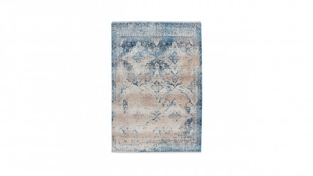 planeo Teppich - Antigua 500 Creme / Blau