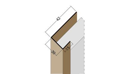 planeo Protect Abschlussprofil - AP 20mm Aufnahme 5000mm Länge weiß