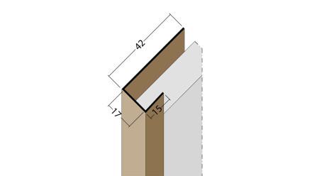 planeo Protect Abschlussprofil - AP 17mm Aufnahme 5000mm Länge weiß