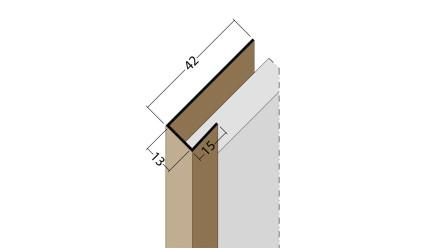 planeo Protect Abschlussprofil - AP 13mm Aufnahme 5000mm Länge braun