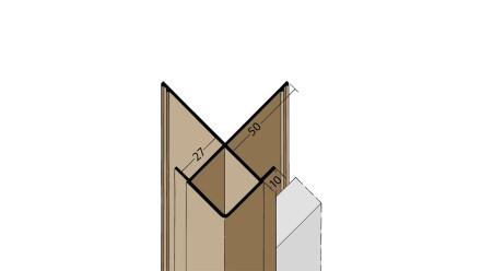 planeo Protect Außeneckprofil - KA 27mm Aufnahme 3000mm Länge weiß