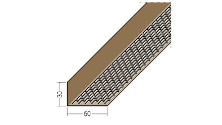 planeo Protect Lüftungswinkelprofil - LÜW 30x50x2500mm braun