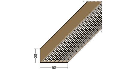 planeo Protect Lüftungswinkelprofil - LÜW 30x60x2500mm weiß