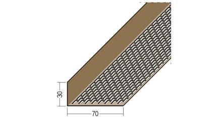 planeo Protect Lüftungswinkelprofil - LÜW 30x70x2500mm braun