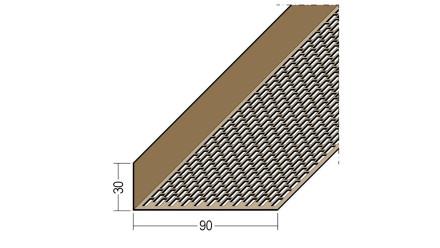 planeo Protect Lüftungswinkelprofil - LÜW 30x90x2500mm - braun