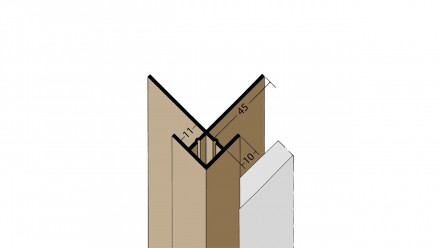 planeo Protect Außeneckprofil - KA 11mm Aufnahme 3000mm Länge schwarz