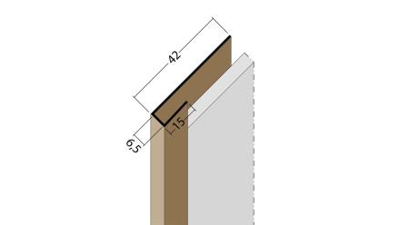 planeo Protect Abschlussprofil - AP 6,5mm Aufnahme 5000mm Länge weiß