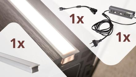 planeo Glow - Zaunbeleuchtungs-Set für 1 Lichtleiste