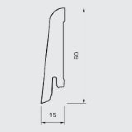 Wicanders Sockelleisten - Folienummantelte MDF-Leise - Eiche Alaska - 15x60x2400 mm
