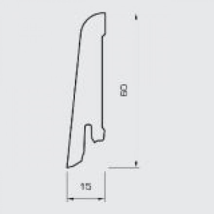 Wicanders Sockelleisten - Folienummantelte MDF-Leise - Eiche Sand - 15x60x2400 mm