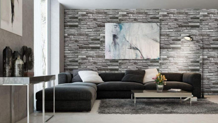 planeo 3D Wall Panels Silver Shale