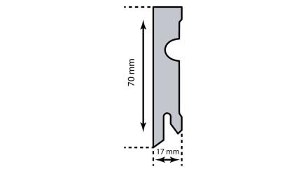 Kork-Sockelleiste KWG - 15 x 70 mm - Eiche Classic - versiegelt