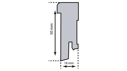 KWG Sockelleiste für Einklebestreifen 18 x 50mm weiß