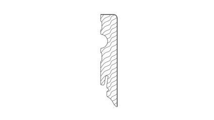 Haro Stecksockelleiste - Dekor Eiche Savona natur 15x80 mm