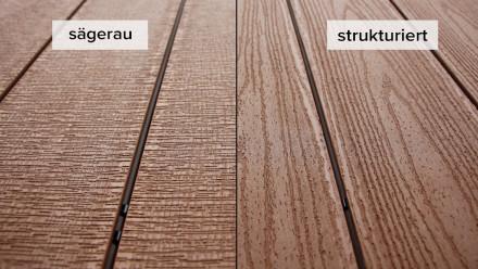 planeo TitanWood - Massivdiele Holzstruktur hellbraun sägerau/strukturiert