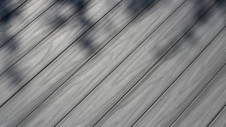 planeo WPC Terrassendielen - Hellgrau 1,10m Diele inkl. Unterkonstruktion - Klick-System