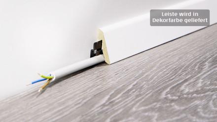 Wineo Sockelleisten - 18,5 x 38,5 mm - Weiß