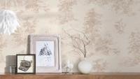 Vinyltapete beige Landhaus Blumen & Natur Romantico 291