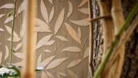 Landhaus Tapete Designbook Becoming one with nature A.S. Création Landhausstil Blätter Natur Braun Metallic 805