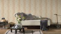 Vinyltapete beige Landhaus Barock Vintage Ornamente Hermitage 10 455