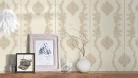 Vinyltapete beige Retro Landhaus Barock Blumen & Natur Ornamente Château 5 931