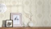 Vinyltapete grau Retro Landhaus Barock Blumen & Natur Ornamente Château 5 933