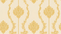Vinyltapete gelb Retro Landhaus Barock Blumen & Natur Ornamente Château 5 934