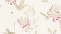 Vinyltapete beige Retro Blumen & Natur Designdschungel 2 by Laura N. 983