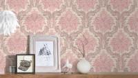 Vinyltapete rosa Vintage Retro Landhaus Blumen & Natur Ornamente Paradise Garden 162