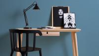 Vinyltapete blau Klassisch Uni Linen Style 614