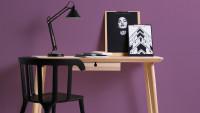 Vinyltapete lila Klassisch Uni Linen Style 615