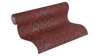 Vinyltapete Metropolitan Stories Lizzy - London Living Ornamentewalls Metallic Rot Schwarz 983