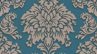 Vinyltapete Metropolitan Stories Lizzy - London Living Ornamentewalls Beige Blau Metallic 985
