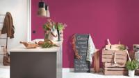 Vinyltapete rosa Klassisch Uni Trendwall 079