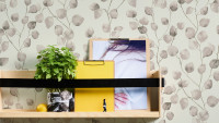 Vinyltapete Greenery A.S. Création Landhausstil Eukalyptus Weiß Creme Beige 442