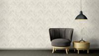 Vinyltapete grau Modern Ornamente Streifen Versace 4 511