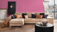Vinyltapete rosa Modern Uni Trendwall 203