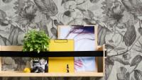 Vinyltapete Greenery A.S. Création Landhausstil Hibiskus Pflanzen Grau Weiß Schwarz 163